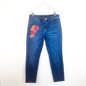 BUFFALO Kora Skinny Embroidered Floral Jeans 30 10
